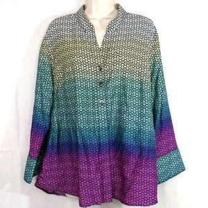 Westbound Button Up Shirt Top Wrinkle Free Size 1X